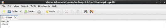 master node slaves file - Hadoop Multi Node Cluster - Edureka