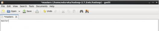 masters - Hadoop Multi Node Cluster - Edureka