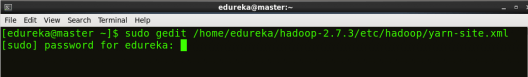open yarn-site - Hadoop Multi Node Cluster - Edureka