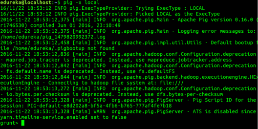 Pig Local Mode - Apache Pig Installation - Edureka