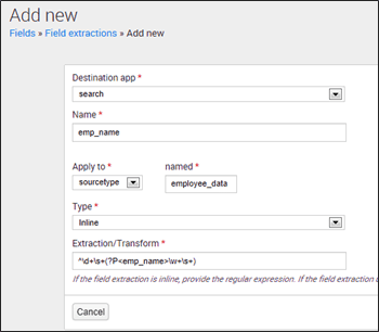 Add new Splunk field extraction - Edureka