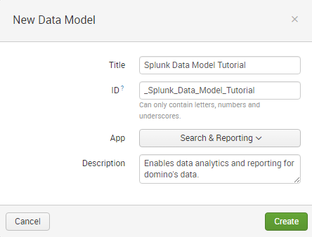 Creation of data models Edureka