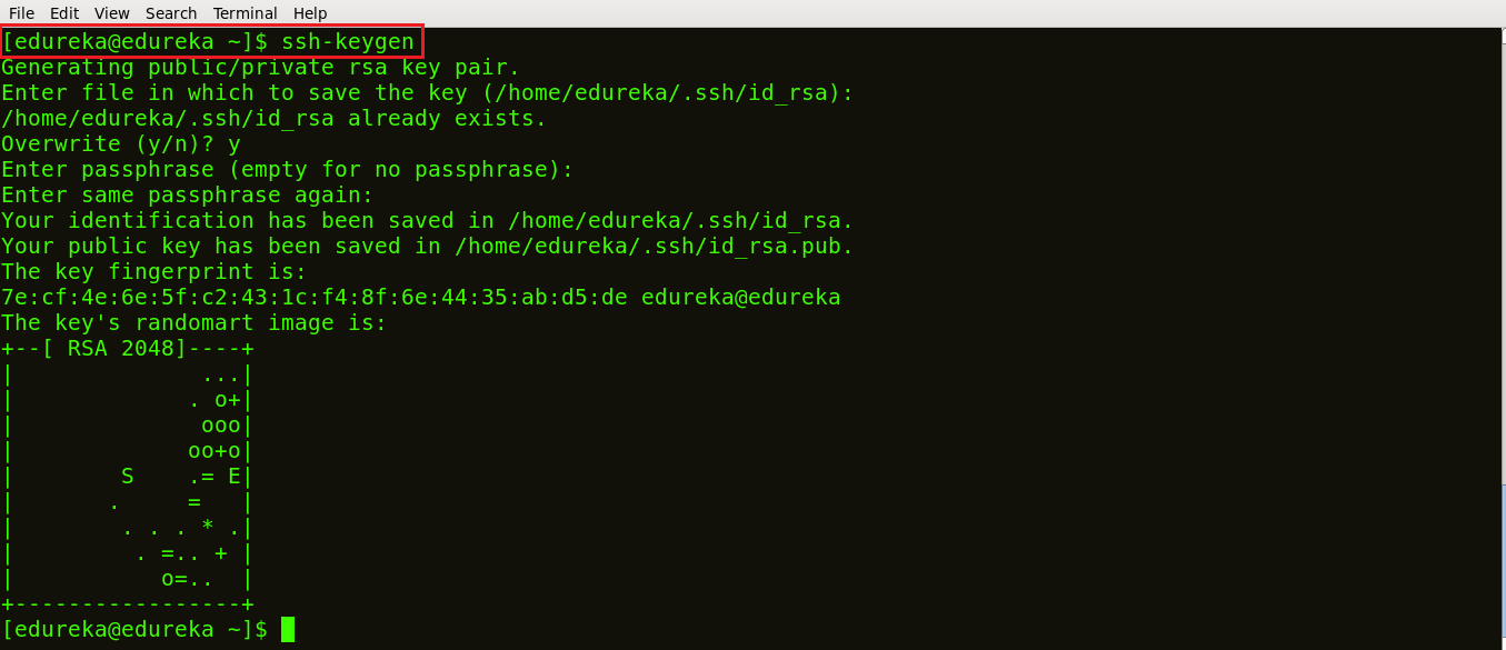 Generate Ssh Key - Ansible Tutorial - Edureka
