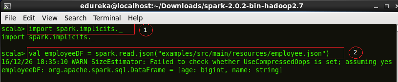 Loading Data - Spark SQL - Edureka