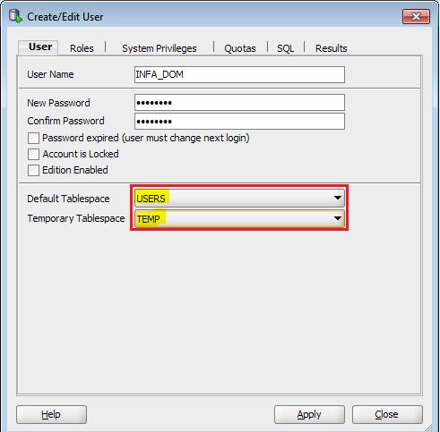 dom-user-details- Informatica Installation- Edureka