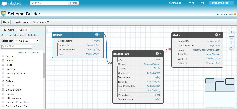 schema builder 1 - salesforce tutotial - edureka