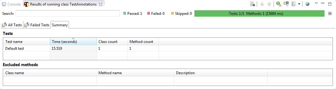testng report - selenium webdriver