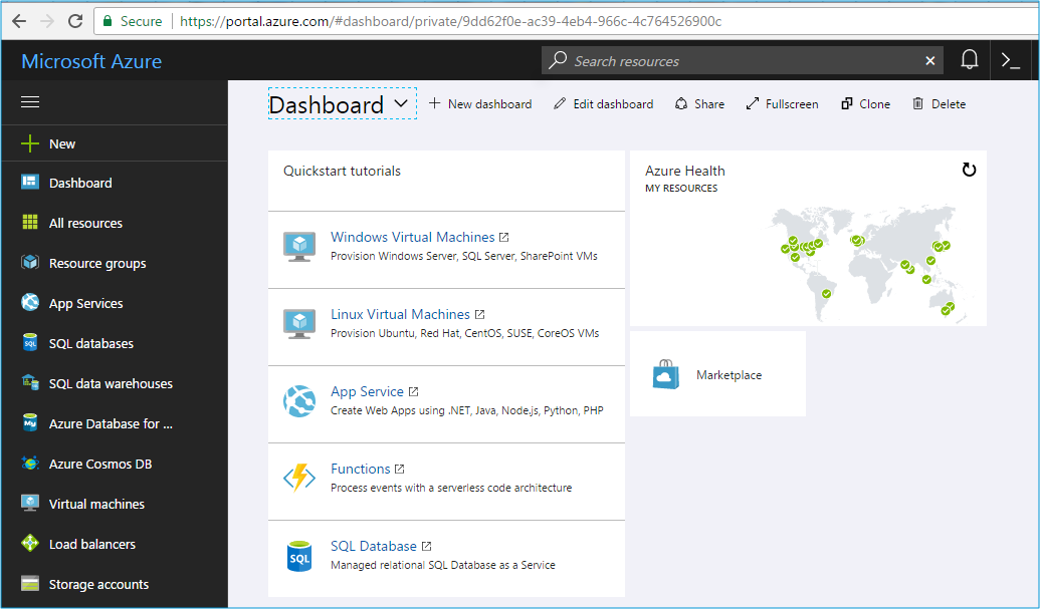 Azure Management Portal - Azure Tutorial - Edureka