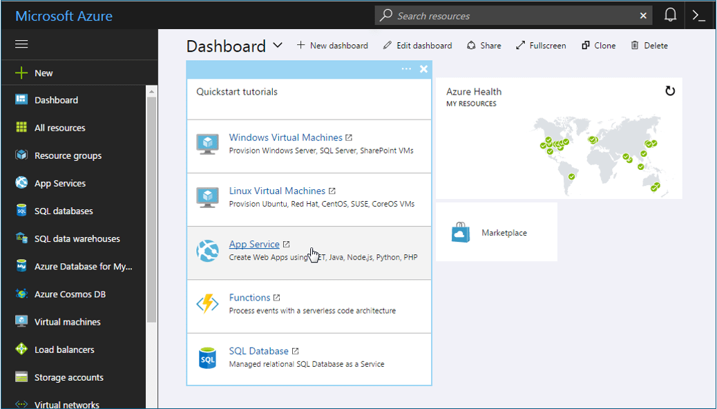 Dashboard - What is Azure - Edureka