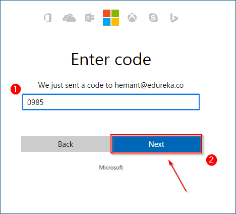 Enter Code - What is Azure - Edureka