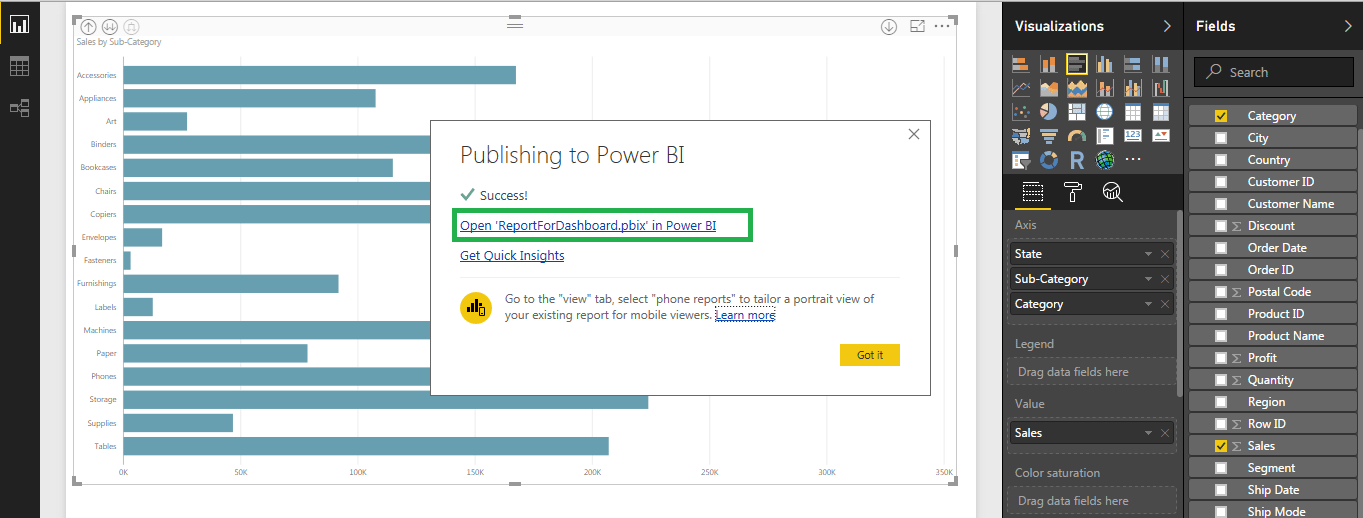 Publish - Power BI Dashboard - Edureka