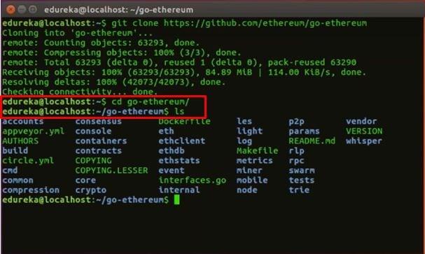 cd command - Blockchain Tutorial -Edureka