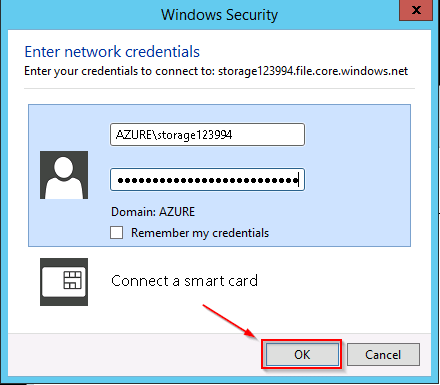 User Password - Azure Storage Tutorial - Edureka