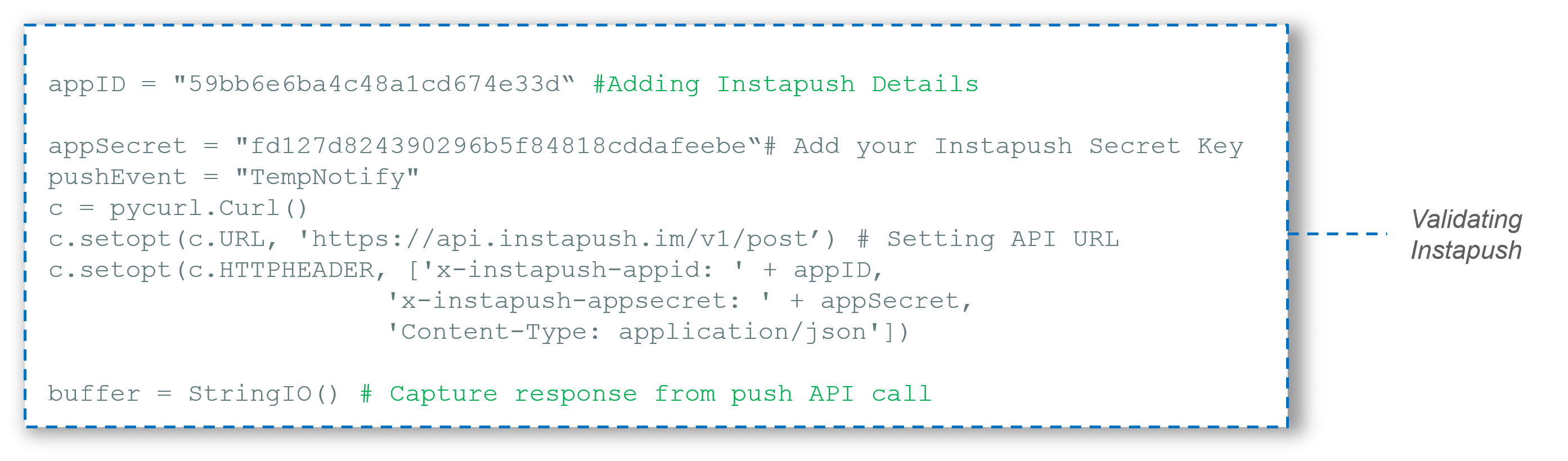 Passing Details of InstaPush - IoT Tutorial - Edureka