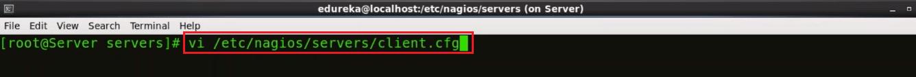 Edit Clients.cfg - Nagios Tutorial - Edureka