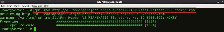 Install EPEL Repository - Nagios Tutorial - Edureka
