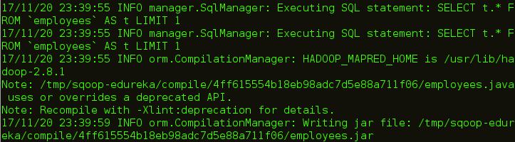 Sqoop Codegen Destination - Apache Sqoop Tutorial - Edureka