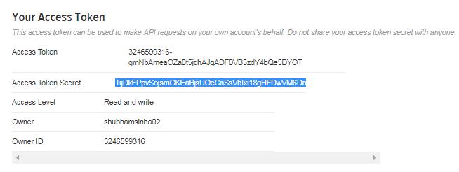 Twitter Access Token - Apache Flume Tutorial - Edureka