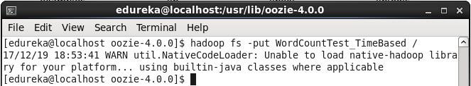 Command to Upload Coordinator Folder on HDFS - Oozie Tutorial - Edureka