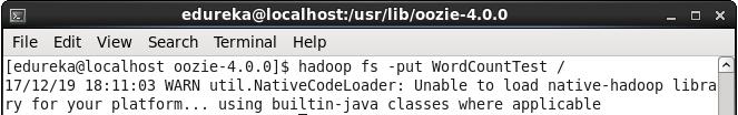 Command to Upload Workflow Folder on HDFS - Oozie Tutorial - Edureka