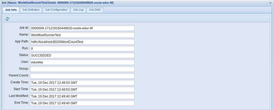 Workflow Job Info - Oozie Tutorial - Edureka