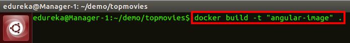 command to build dockerfile - docker swarm - edureka