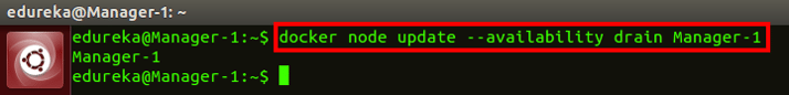 docker node update drain command - docker swarm - edureka