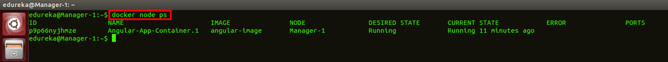 docker node ps command - docker swarm - edureka