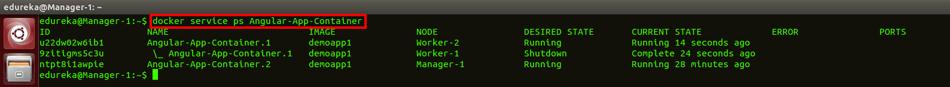 docker swarm ps command - docker swarm - edureka