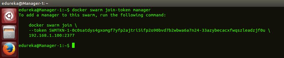 docker swarm join manager command - docker swarm - edureka