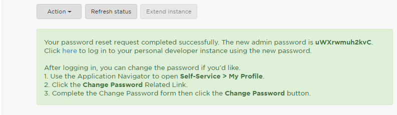 Credential Details - servicenow developer instance - Edureka