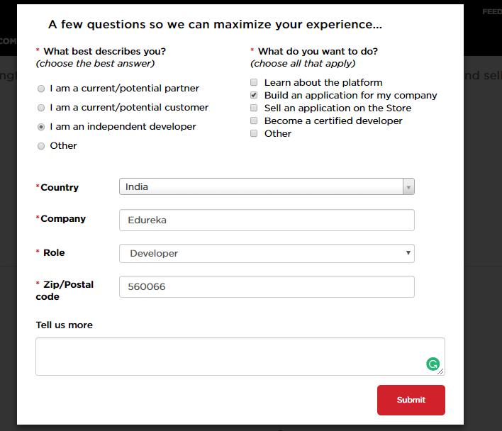 Questionnaire - servicenow developer instance - Edureka