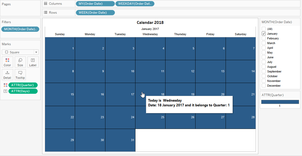 Calendar - Tableau Tips and Tricks - Edureka
