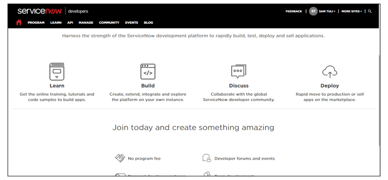 Landing Page - ServiceNow Developer Instance - Edureka