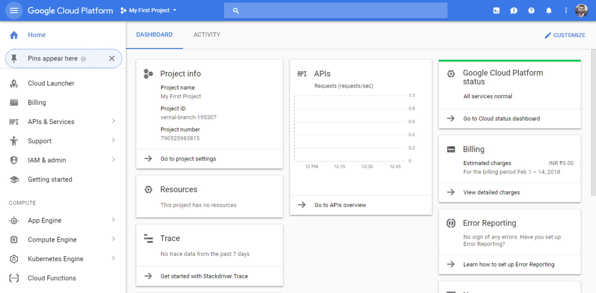 GCP Dashboard - What is Google Cloud Platform - Edureka