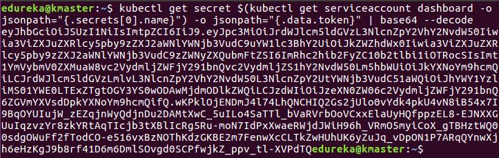 kube dashboard token - install kubernetes - edureka