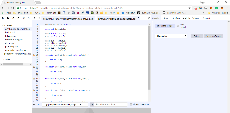 Remix IDE - Ethereum Development Tools - Edureka