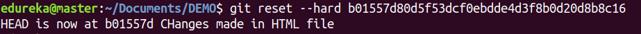 Git Reset Command - Git Commands - Edureka