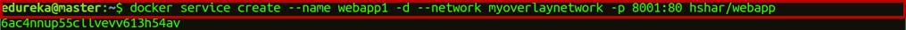 Snapshot Of Hands On - Docker Networking - Edureka