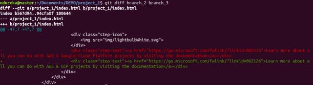 Git Diff Command - Git Commands - Edureka