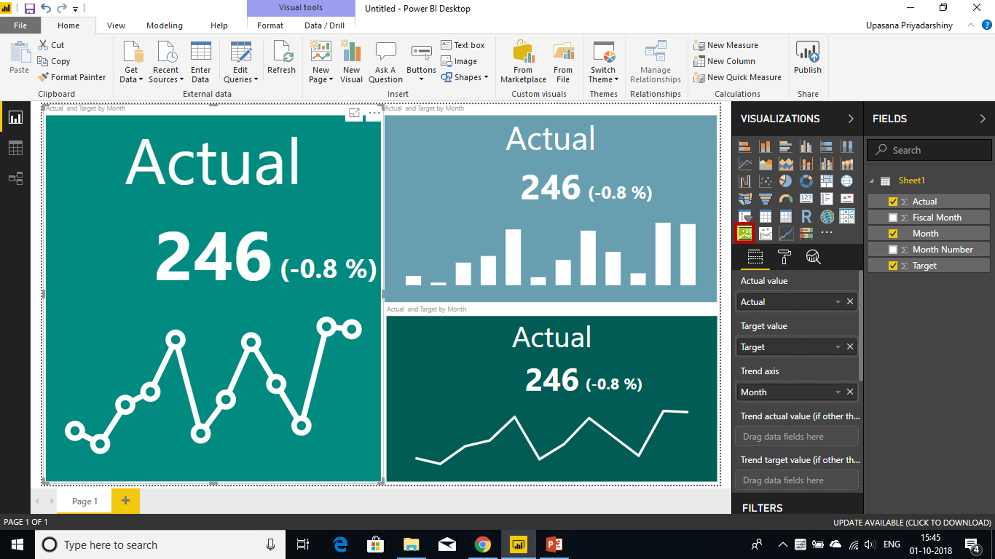 Power BI KPI | Create Power BI KPI Visuals (Key Performance