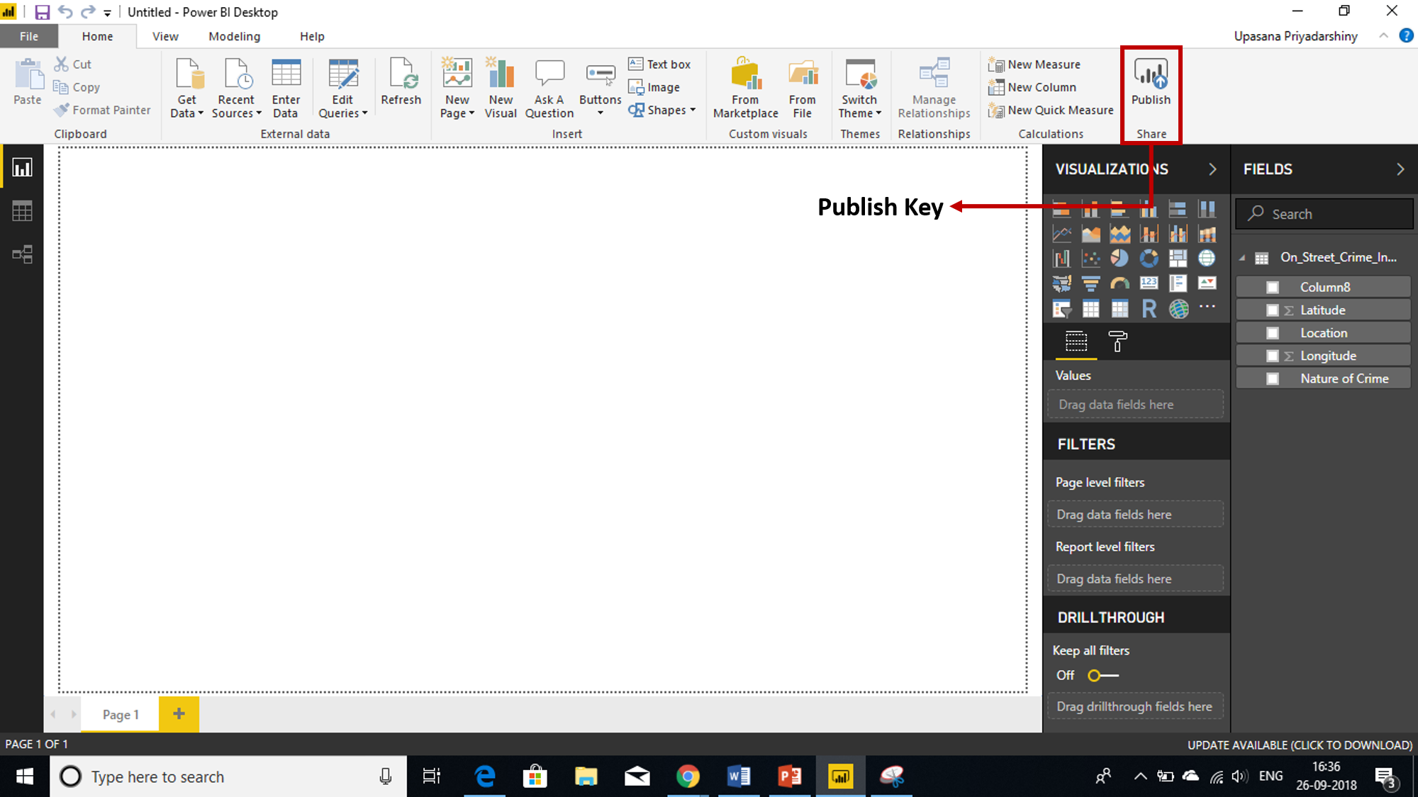 Publish Key - Power BI Reports - Edureka
