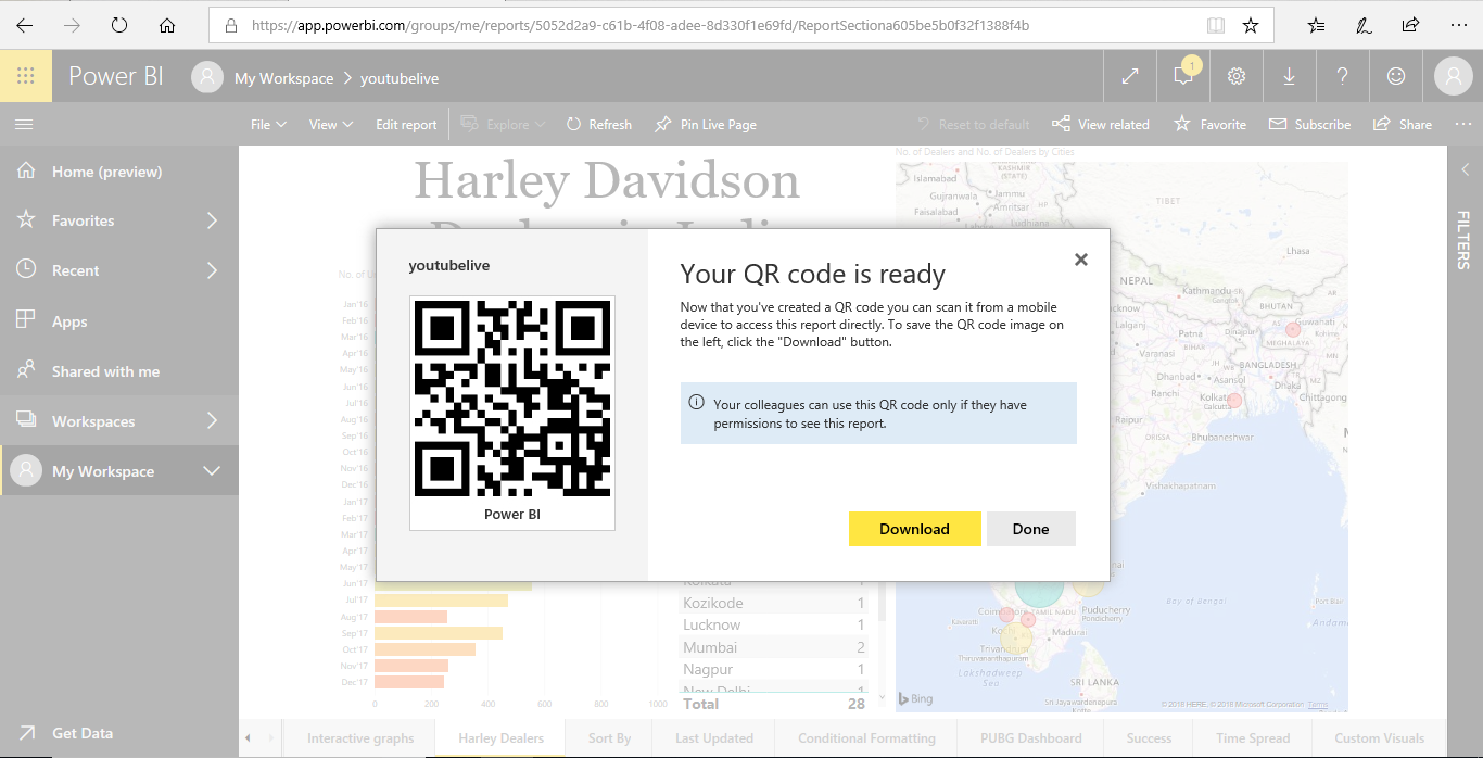 QR code - Power BI Reports - Edureka