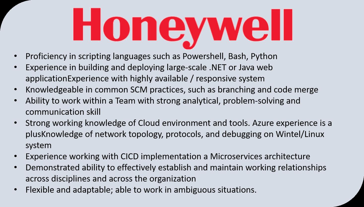 DevOps Job Description Honeywell - DevOps Engineer Resume - Edureka