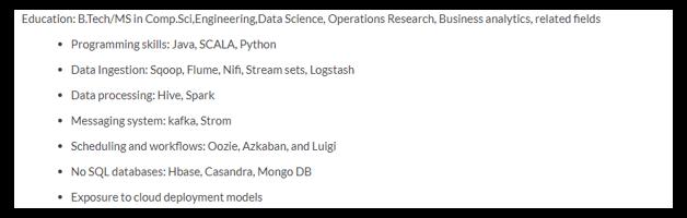 big data engineer resume
