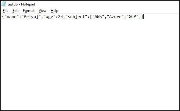JSON File- Amazon Athena Tutorial