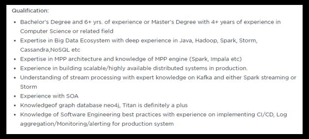 Big Data Engineer Resume | Sample Data Engineer Resume | Edureka