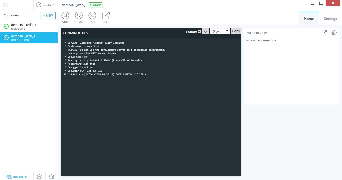 Kitematic -Docker For Windows - Edureka