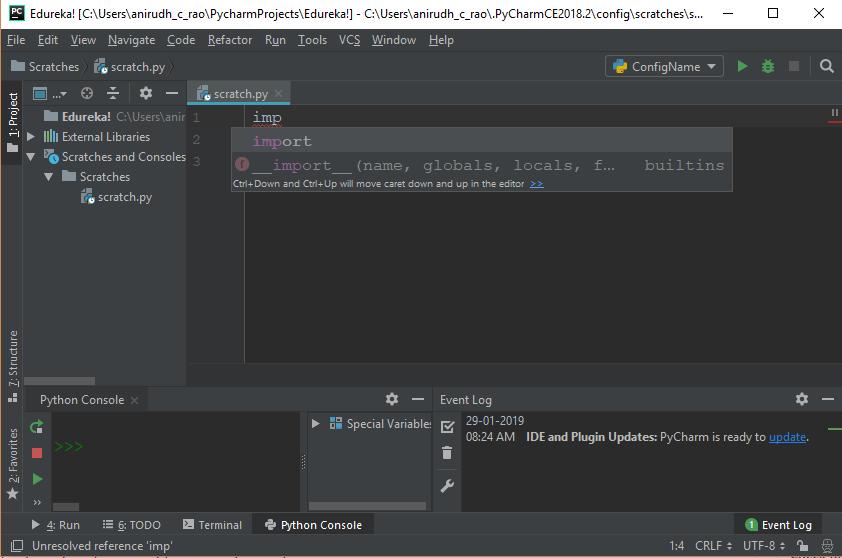 PyCharm Tutorial - Writing Python Code In PyCharm (IDE) | Edureka