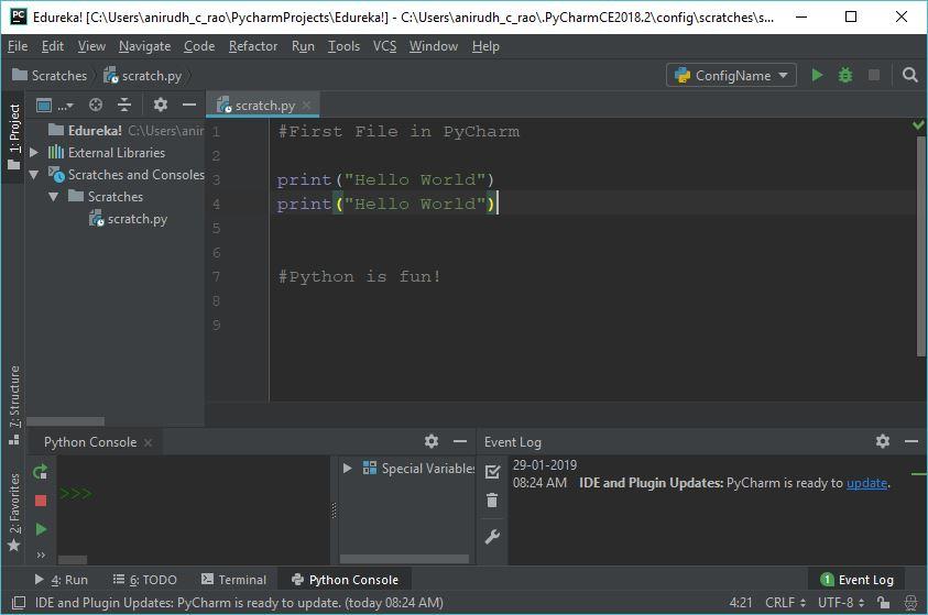 Code duplication - Pycharm tutorial - Edureka